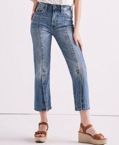 NWOT Lucky Brand high rise straight leg crop jeans